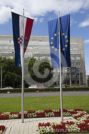 Croatia new member of EU Editorial Image