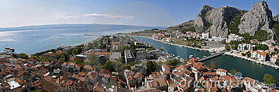 Croatia old town Omis, Dalmatia
