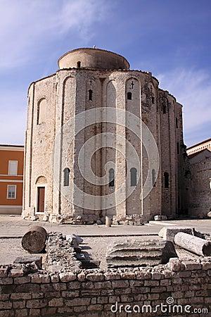 Croatia Zadar St Donatus Church and forum