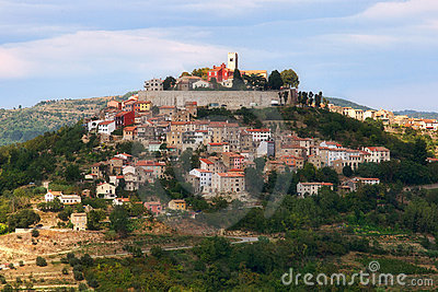 Croatian city on a hill