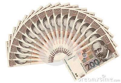 Croatian currency-200 kuna bills
