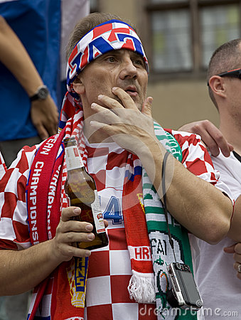 Croatian fan Editorial Stock Photo