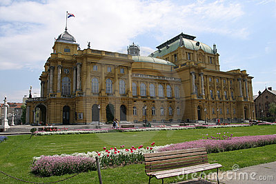 The Croatian National Theatre in Zagreb