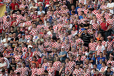 Croatian soccer fans Editorial Stock Photo