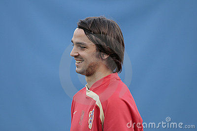 Croatian soccer player Kranjcar Editorial Stock Photo