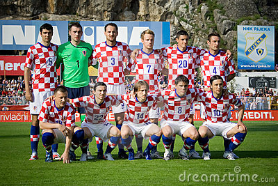 Croatian soccer selection Editorial Stock Photo
