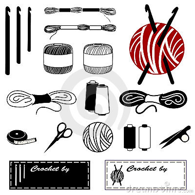 Free Crochet And Lace Making Toola And Supplies Stock Photos - 9252143