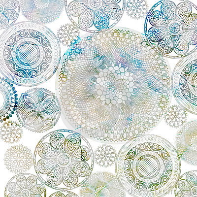 Free Crochet Doiley Background Design Royalty Free Stock Images - 19862049