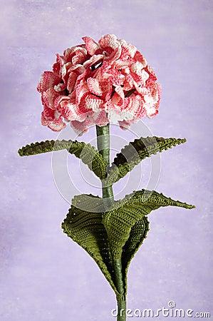 Free Crochet Flowers Blue Hydrangea Stock Image - 25678781