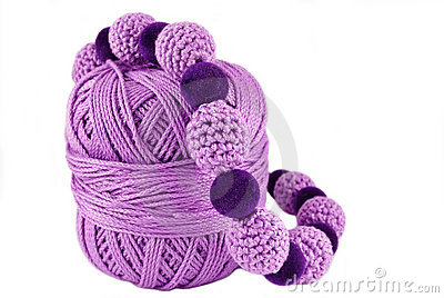 Crochet jewelry -purple beads