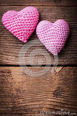 Free Crochet Lovely Hearts Stock Image - 28952031