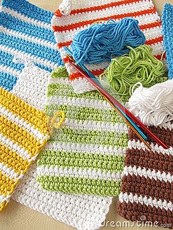 Free Crochet Potholders Royalty Free Stock Photos - 44769578