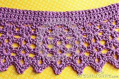 Crochet scarf picot border