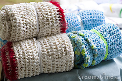 Crocheted blanket wraps