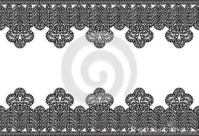 Crocheted lace frame