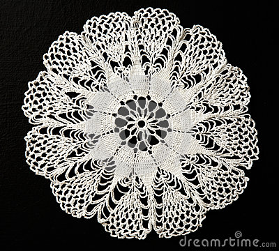 Free Crocheted Lace Napkin Stock Photography - 59184582
