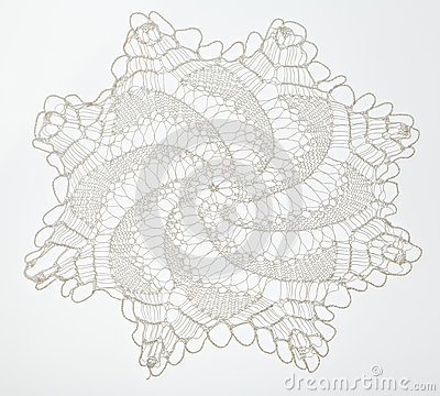 Free Crocheted Lace On White Stock Photos - 59184503