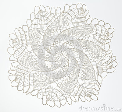 Free Crocheted Lace On White Royalty Free Stock Image - 59184506