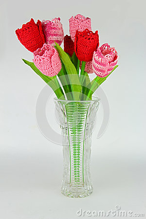 Free Crocheted Tulips Stock Photography - 35348742