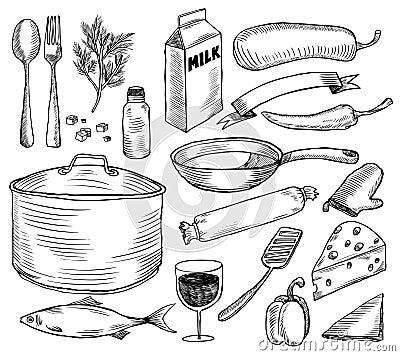 Crockery doodles set