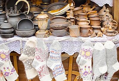 Crockery and knitwear