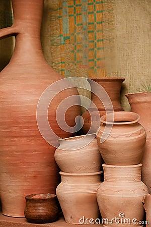 Crockery made of clay