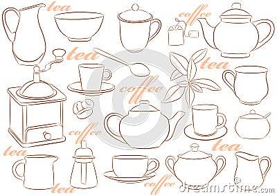 Crockery for tea and coffee