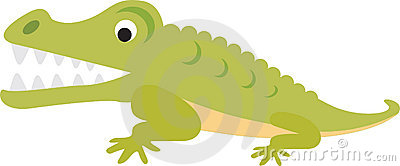 Crocodile or alligator cartoon