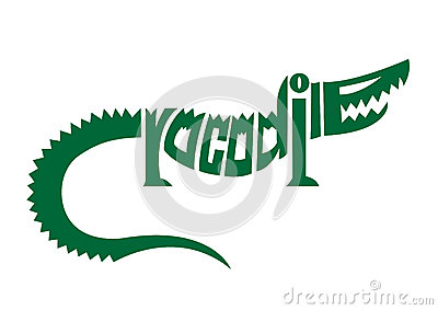 Crocodile alphabet logo