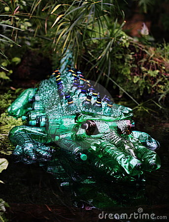 Crocodile Plastic sculpture Pet Art Editorial Photo
