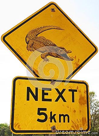 Free Crocodile Road Sign Royalty Free Stock Image - 7922546