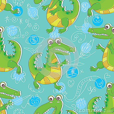Free Crocodile Seamless Pattern_eps Stock Photos - 36253823