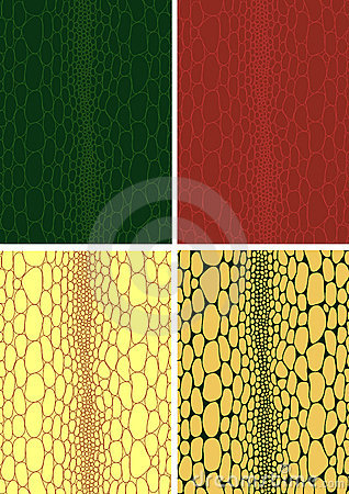 Free Crocodile Skin Leather Texture Royalty Free Stock Photography - 3561077
