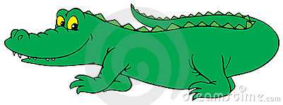 Crocodile (vector clip-art)