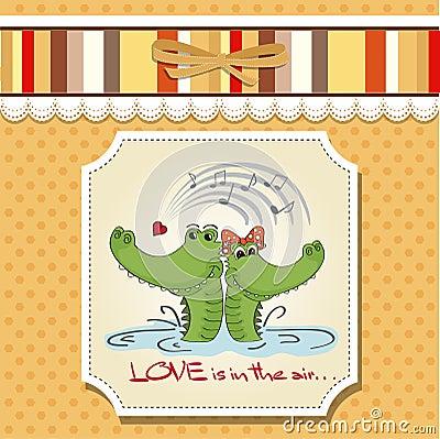 Crocodiles in love