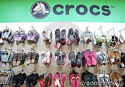 Crocs shop Editorial Photography