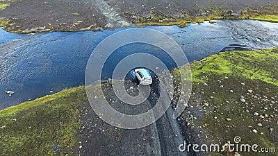 Croisement de Ford en Islande banque de vidéos