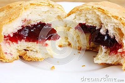 Croissant broken half-and-half
