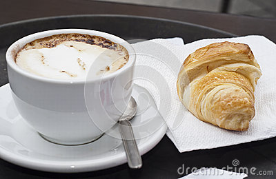 Croissant with Cappuccino