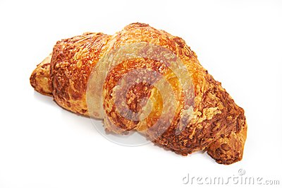Croissant cheesy isolated