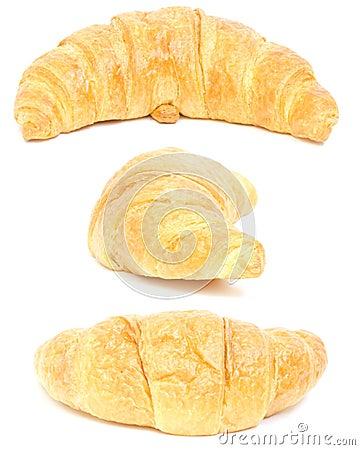 Croissant. collage