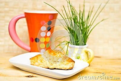 Croissant del desayuno