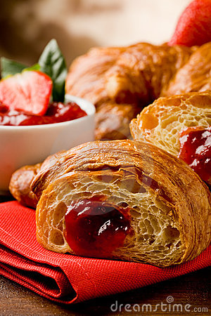 Free Croissants With Marmelade Stock Images - 19444064