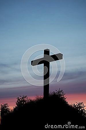 Croix de coucher du soleil