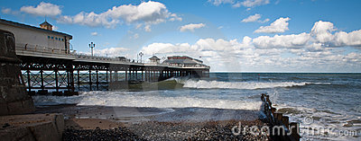 Cromer pier and groyne.