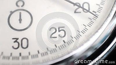 Cronómetro del vintage almacen de metraje de vídeo