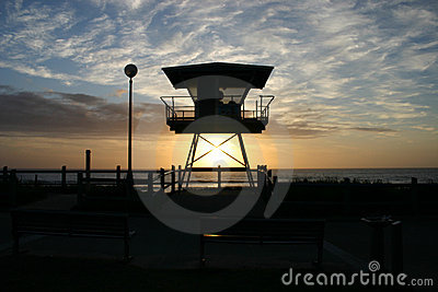 Cronulla life guard tower