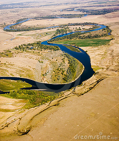 Crooked River Through Plains