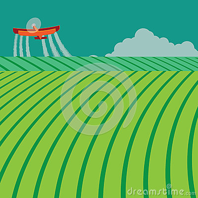 how to draw a crop duster