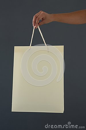 Free Cropped Hand Of Female Customer Holding Shopping Bag Royalty Free Stock Photography - 99478157